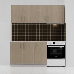 Κουζίνα ΕΡΗ Σετ 5 κουτιών Φυσικό-Δρυς Άνω Κουτία Μήκος 180cm Κάτω Κουτιά 120cm FIL-6800SET