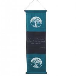 Κρεμαστό Διακοσμητικό Καδράκι με όμορφα χρώματα και μοντέρνα σχέδια Τυρκουάζ 37x119εκ O-NYO5TURQUIS