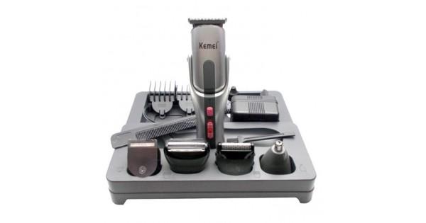 KEMEI KM-680 Σετ Κουρευτικής και Ξυριστικής Μηχανής για Μαλλιά και Γένια 8  σε 1 6f47aac4ba5