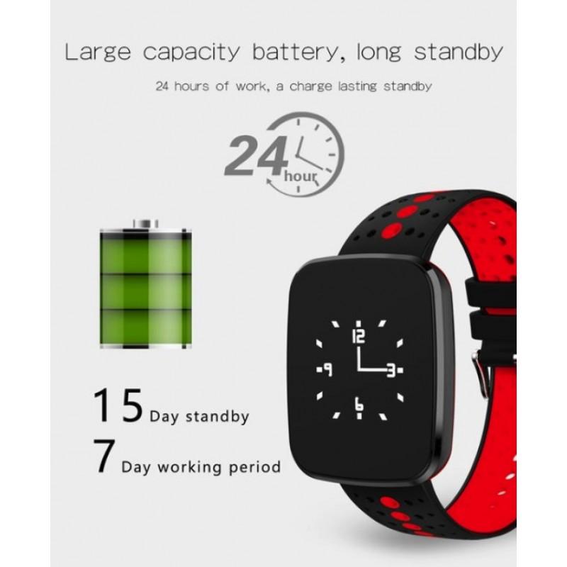 smartwatch bluetooth activity tracker v6 black