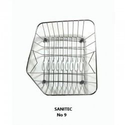 Sanitec Ανοξείδωτο Καλάθι No 9 (32x40) για Νεροχύτη 310