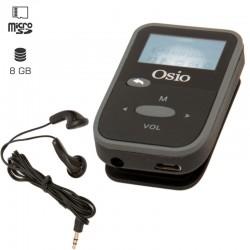 OSIO SRM-7880BG MP3 PLAYER ΜΕ ΚΛΙΠ, ΜΑΥΡΟ 8GB ΕΙΚΟΝΑ - ΗΧΟΣ