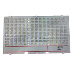 LED SLIM Προβολέας SMD Λευκό Γυαλί 150W Αδιάβροχος IP 66, 13500 Lumens