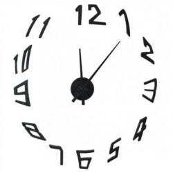 Μεγάλο Ρολόι Τοίχου 3D DIY Large Wall Clock black-Do it yourself ΟΙΚΙΑΚΟΣ  ΕΞΟΠΛΙΣΜΟΣ e006c843cf6