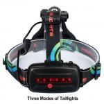 Επαναφορτιζόμενος τριπλός Φακός Κεφαλής LED T6 + 2XPE LED με δυνατότητα γωνίας προσαρμογής 1826B HOBBY - GADGETS