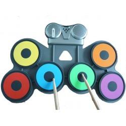 Ηλεκτρονικό Αναδιπλούμενο Φορητό Roll Up Drum Kit Σιλικόνης CV-2011A HOBBY - GADGETS