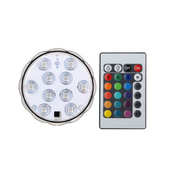 Φώτιστικό Πισίνας και Ενυδρείου Led RGB Με Τηλεχειριστήριο