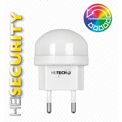 Heitech 04002225 Φωτάκι νυκτός LED με αυτόματη αλλαγή χρωμάτων