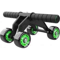 Ρόδα & μπάρα εκγύμνασης σώματος Abdominal Wheel με 4 τροχούς