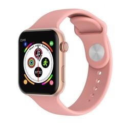 Smart Watch Fitness Tracker με μετρητή καρδιακών παλμών, SpO2 για Android / IOS W4 – Ροζ