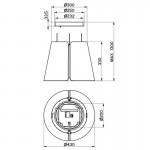 Faber Beat F45 db Matt Απορροφητήρας Νησίδα